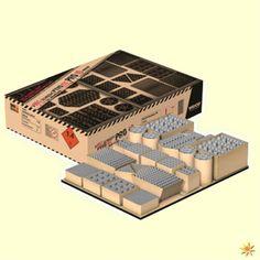 Pyro Tec Pro 3 Verbundfeuerwerk: Dieses Verbundfeuerwerk feuert 149 Schuss ab und hat eine Dauer von zirka 180 Sekunden, dabei muss das Verbundfeuerwerk nur einmal angezündet werden. #Feuerwerk #Geburtstag #Hochzeit