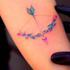 Have you ever dreamt of having an arrow tattoo inked on your skin? Well, if you are looking for ideas, here are some of the best arrow tattoo designs. Bff Tattoos, Neue Tattoos, Wrist Tattoos, Word Tattoos, Small Tattoos, Anchor Tattoos, Pretty Tattoos, Beautiful Tattoos, Piercing Tattoo