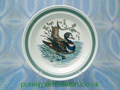 Portmeirion Birds Of Britain Vintage Dinner Plate, Harlequin Duck