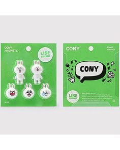 K2POP - LINE BRAND STORE OFFICIAL GOODS : CONY BOARD MAGNET Line Cony, Line Branding, Line Friends, Brand Store, Magnets, My Love, Board, Planks