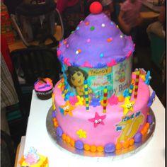 I made my niece's birthday cake! Dora the Explorer!