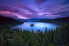 Emerald Bay, Lake Tahoe. One of the most dramatic photos I have seen. Love it!