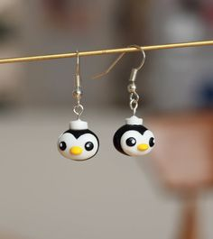 OCTONAUTS - Peso Penguin - Handmade polymer clay earrings