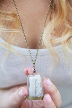 Wedding Dress Keepsake DIY Pendant