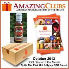 Outta The Park Hot & Spicy BBQ Sauce is in the Amazing Clubs BBQ Sauce of the Month package in October 2013.