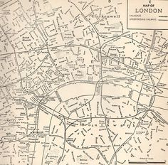 1942 Vintage LONDON Map Antique Map of London Black and White Gallery Wall Art Map Collector Gift For Traveler 8204 by plaindealing on Etsy Street Map Of London, Old Maps Of London, Vintage London, London City, Central London Map, World Map Decor, Black And White City, City Maps, Tyga
