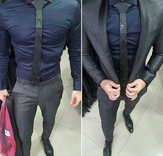 Jacket vs No Jacket Style by What do you think? Mens Fashion Suits, Mens Suits, Stylish Men, Men Casual, Look Man, Herren Outfit, Business Outfit, Men Formal, Suit And Tie