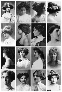 Vintage Hairstyles Vintage Portraits Depict Women's Hairstyles From the Victorian and Edwardian Eras Historical Hairstyles, Edwardian Hairstyles, Vintage Hairstyles, 1800s Hairstyles, Ladies Hairstyles, Classic Hairstyles, Trendy Hairstyles, Club Hairstyles, Popular Hairstyles