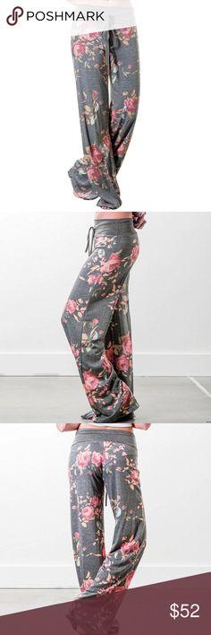 Floral lounge pants Soft cotton floral lounge pants Pants