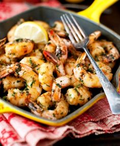 Shrimp with Garlic and Parsley