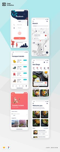beautiful UI screens for some hottest categories, for example, e-bank e-wallet restaurant, etc. Mobile App Ui, Mobile App Design, App Design Inspiration, Ui Kit, Tool Design, Screens, Save Yourself, Restaurant, Wallet