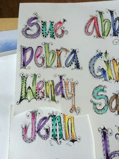 Name doodles Hand Lettering Alphabet, Doodle Lettering, Alphabet Art, Creative Lettering, Lettering Styles, Letter Art, Alphabet Soup, Diy Letters, Letters And Numbers