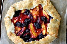 Nectarine and blackberry galette...excpet I turned it into a peach and strawberry galette
