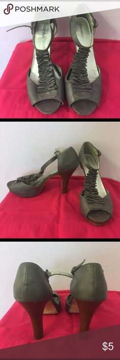 Gray heels Used condition, still have some life in them Xhilaration Shoes Heels