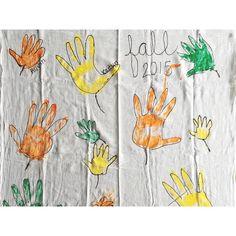 Fall Leaf Handprint Towel