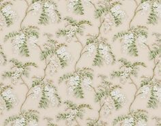 FLEURS DE MAI FP172001 Blanc Inspired by a provençal-style quilting from the 18th century discovered near the Isle sur la Sorgue, the powdered ef...