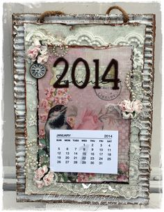 Calendar by LLC DT Member Elin Torbergsen, using papers and image from Reprint.