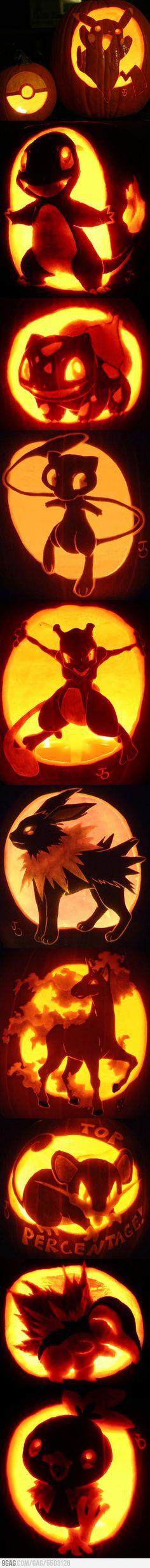 Pokemon Jack-O'-Lantern Pumpkin Art  your dad wants sawyer to be art oriented? @Remington Guest Guest Guest Schieffer