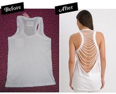 DIY: Slash-Back Tank