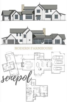 Residential Architecture, Online House Plans, Online Floor Plans, Farmhouse Floor Plans, Family Homes, Architecture, Residential Plans, Modern Farmhouse Style, Modern Farmhouse Design, Farmhouse Style, Farmhouse Design, Modern Farmhouse Floor Plan, Farmhouse House Plan, Modern Farmhouse House Plan.