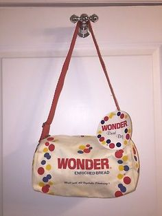 Vintage extremely rare 1970s Wonder Bread Bag Purse Sunflower Novelty Bags 1978