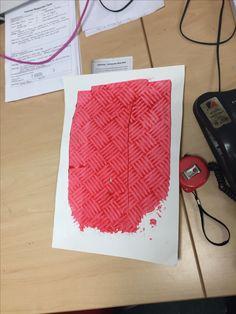 Print of print studio floor