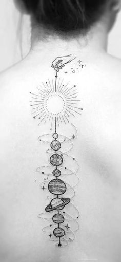 Space tattoos planets