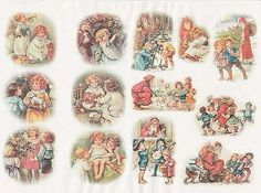 Rice Paper for Decoupage Decopatch Scrapbook Craft Sheet Vintage Christmas Eve 2