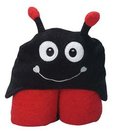 Lady Bug Hooded Towel