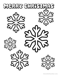 Printable Christmas Coloring Pages - Free Christmas Color Sheets Snowflake Coloring Pages, Printable Christmas Coloring Pages, Christmas Coloring Sheets, Christmas Printables, Coloring Pages For Kids, Christmas Snowflakes, Christmas Colors, Merry Christmas, Christmas Games