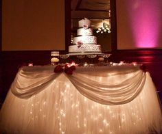 Engagement Table Decoration Ideas | WEDDING CAKE TABLE SKIRTING & DECORATION IDEAS