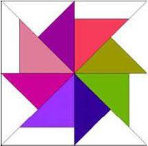 flying kite quilt block pattern