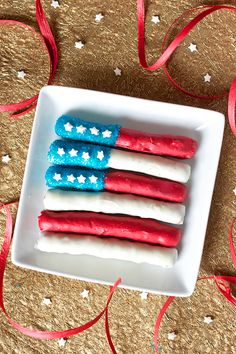 Chocolate-Covered Pretzel Flags