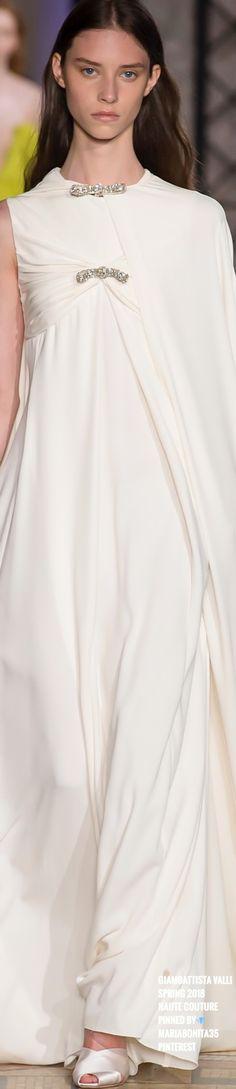 Giambattista Valli Ss18 Haute Couture Jeannie D Just Pure White