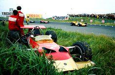 1969 1969 Lotus lawn mower at Zandvoort. Probably exit of Tarzan corner
