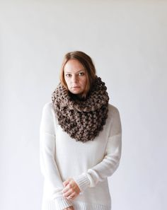 Outlander Inspired Cowl Chunky Knit Textured Cowl Extra Large Cowl / The Perth / Barley by ozetta on Etsy