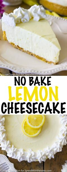 Rich and light at the same time, this no bake lemon cheesecake is the perfect summer dessert. Sweet, tart, and simple! Source by Related posts: Lemon Cheesecake Dump Cake Recipe! This easy dessert blends the perfect balance… No-Bake Lime Cheesecake Lemon Cheesecake Recipes, Lemon Desserts, Lemon Recipes, No Bake Desserts, Easy Desserts, Delicious Desserts, Dessert Recipes, Mini Desserts, Light Summer Desserts