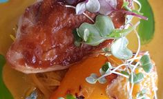 Roast Chicken Breast with Roast Peaches and Cape Curry Sauce recipe – All 4 Women Roast Recipes, Sauce Recipes, Chicken Recipes, Roasted Chicken Breast, Roast Chicken, Fresh Coriander, Fresh Ginger, Tamarind Paste, Beautiful Fruits
