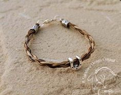 DONAS  Horse Hair Bracelet  Sterling Silver  by SHDStudios on Etsy