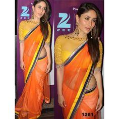 Kareena Kapoor Saree Kareena Kapoor Fanta Net Fabric Saree Bollywood Sarees