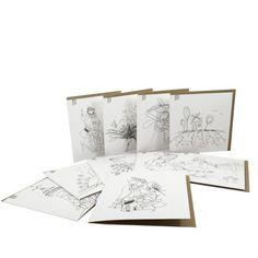 """  Boitier de 10 cartes   Les cartes à peindre sont idéales pour une activité sans préparation. Des crayons de bois, de cire ou des pastels, de la peinture à l'eau ou acrylique, vous prenez simplement ce que vous avez à la maison et vous réalisez les plus belles cartes à offrir tout au long de l'année ! Vous manquez d'inspiration ? plusieurs de ces dessins sont en couleurs dans la catégorie """"Cartes de souhaits"""" sur notre site Internet : lapetitemaison.ca Crayons, Vintage World Maps, Greeting Cards, Site Internet, Activities, Drawings, Pastels, Painting, Inspiration"""