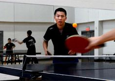 Tulane University National Collegiate Table Tennis team in action. (photo by Ryan Rivet)