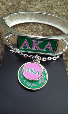 Alpha Kappa Alpha necklace bracelet set by NicolasPlaythings