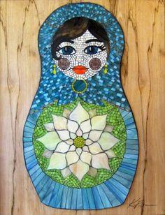doll mosaic by Kasia Mosaics
