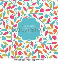 Colorful Branches Frame Seamless Pattern Background - csp16007033