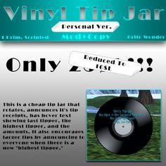 Vinyl Tip Jar