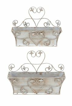 Classic Metal Wall Planter With Rustic Finish - Set Of 2 by Benzara Benzara,http://www.amazon.com/dp/B009D4X72C/ref=cm_sw_r_pi_dp_vOLitb1HDV41HKAV
