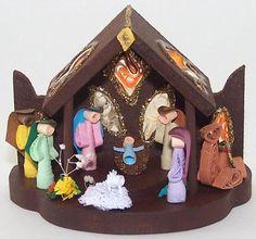 Christmas Ornament , Paper filigree , Quilling , Handmade Quilled Nativity , Christmas Quilling Ornament , Nativity Ornament