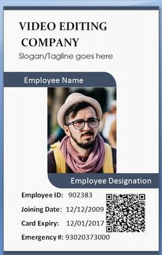 17 best 100 Employee Card Template images on Pinterest | Card ...