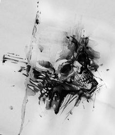#ValhallaTattoo #Skull #design #black&grey #sketch #PerlaTatto #konwent #wLublinie